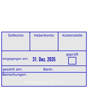 Buchungsstempel Sollkonto-Habenkonto-Kostenstelle • Trodat Professional 54110 •