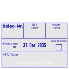 Buchungsstempel Beleg-Nr. KST/Träger • Trodat Professional 5480 •