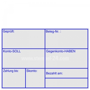 Stempel Geprüft Zahlung bis Skonto • Trodat Professional 5208 •
