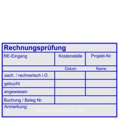 Kontierungsstempel Rechnungsprüfung Kostenstelle Projektnummer • Trodat Professional 5211 •