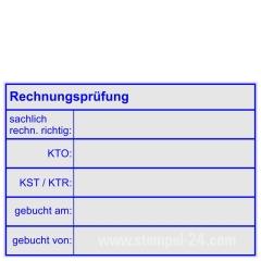 Stempel Rechnungsprüfung sachlich rechnerisch richtig • Trodat Professional 5208 •