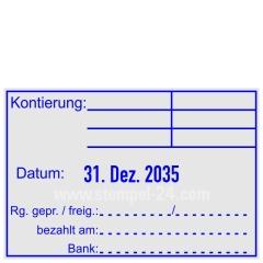 Stempel Kontierung Rechnung geprüft und freigegeben • Trodat Professional 5474 •