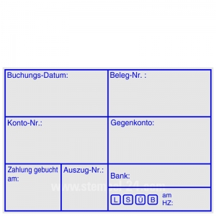Buchungsstempel Buchungsdatum Belegnummer Kontonummer • Trodat Professional 5208 •