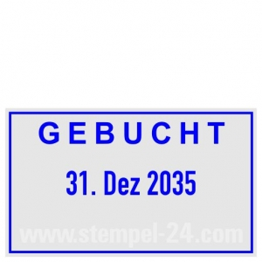 Stempel Gebucht • Trodat Professional 5430 •