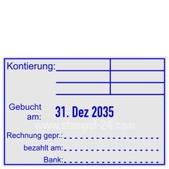 Stempel Kontierung Gebucht Rechnung geprüft Bank • Trodat Professional 5474 •