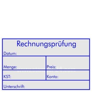 Kontierungsstempel Rechnungsprüfung Menge Preis KST Konto  • Trodat Professional 5206 •