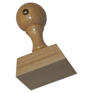 Holzstempel 35 x 40 mm