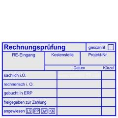 Stempel Rechnungsprüfung angewiesen Bankart 3 • Holzstempel 60 x 90 mm •
