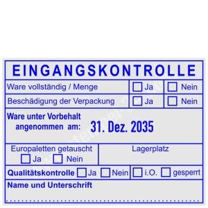 Eingangskontrollstempel • Trodat Professional 54110 •