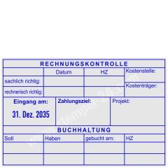 Kontierungsstempel Rechnungskontrolle Buchung • Trodat Professional 54120L •