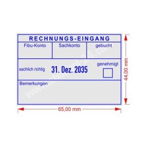 Stempel Rechnungseingang genehmigt • Trodat Professional 5480 •