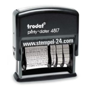Stempel Trodat Printy Classic Wortbandstempel mit Wochentag und Datum verstellbar • Trodat Printy 4817/B •